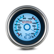 REDARC G52-POT Oil Pressure & Oil Temperature 52mm Gauge with Optional Temperature Display