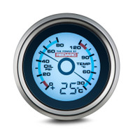 REDARC G52-PWT Oil Pressure & Water Temperature 52mm Gauge with Optional Temperature Display