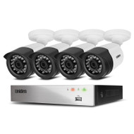 Uniden GDVR8T40 8 Channel Guardian Full HD DVR Security System Including 4 Wired Weatherproof Cameras