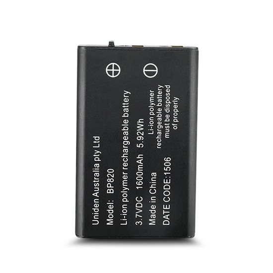 Uniden BP820 Li-ion Polymer Rechargeable Battery Suits UH810 and UH820 Series UHF Handheld Radios