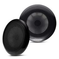 "Fusion EL-F651B EL Series 6.5"" Full Range Shallow Mount Marine Black Speakers"