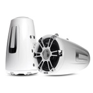 "Fusion SG-FT88SPWC 8.8"" Wake Tower Sports Chrome & White Marine Speakers"