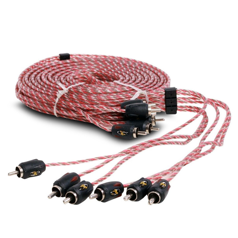 Stinger SI423 RCA Interconnect Audio 3 ft Cable for 4 Channels Install 2 Two