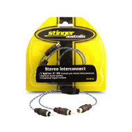 Stinger STI12YM 1 Female to 2 Male RCA Y Splitter