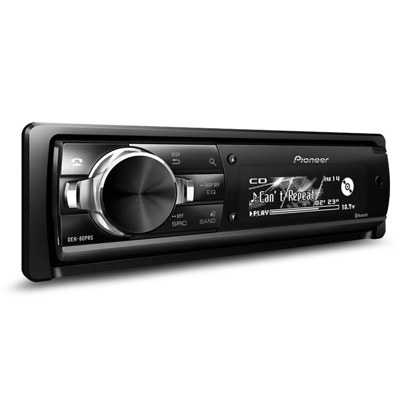 Auto EQ Pioneer DEH-80PRS CD Receiver with 3-Way Active Crossover Network and Auto Time Alignmen