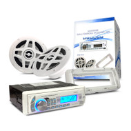"Crystal CM8H02PK Marine Multimedia Player Kit + 6.5"" Speakers & Facia Cover"
