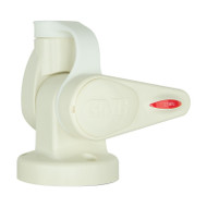 GME ABL015 White Single Swivel Round Antenna Base