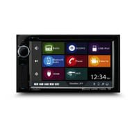 Clarion VX387AU 2-DIN DVD Multimedia Station and 3.5mm OEM Steering Wheel Control Ready with 6.2 Inch Touch Panel Control