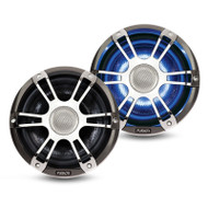 """Fusion SG-CL65SPC 6.5"""" 230 Watt Coaxial Sports Chrome Marine Speaker with LEDs"""