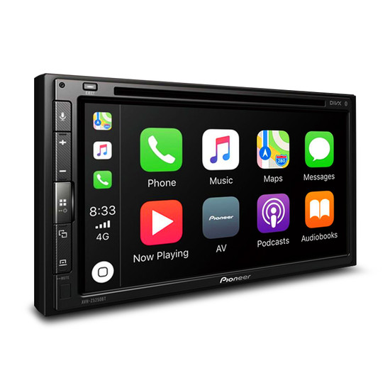 "Pioneer AVH-Z5250BT 6.8"" Double DIN AV Receiver with Dual Bluetooth, Android Auto and Apple Carplay"