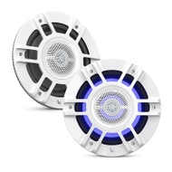 "Infinity Kappa 8130M White 8"" Premium 3-Way RGB LED Convertible Speakers"
