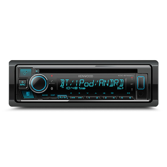 KENWOOD KDC-BT630U Single Din Media Receiver with Bluetooth/CD/USB Support