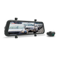 "Parkmate MCPK-962DVR 9.66"" Touch Screen DVR Mirror with Full High Definition Front & Rear Cameras - Up to 128GB Micro SD"