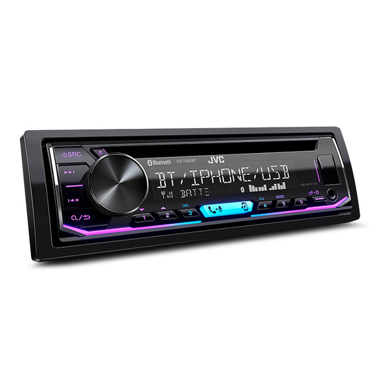 JVC KD-T902BT Single DIN CD Receiver with Bluetooth Wireless Technology and USB/AUX Input