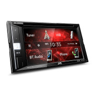 "JVC KW-V250BT Double DIN Multimedia Receiver with 6.2"" WVGA Clear Resistive Touch Monitor and Bluetooth/iPhone/iPod/Spotify/USB & Rear View Camera Ready"