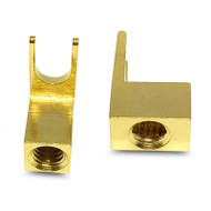 Aerpro AP6042 8 Gauge Gold Plated Screws Fork Terminals