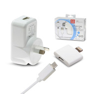 Aerpro APL1005 AC/DC Charger to USB Port 2.1A Hardwired iPhone 5 Cable for Charging