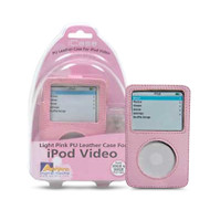 Aerpro APV89310 Pink PU Leather Case Suits 30/60gb iPod Video