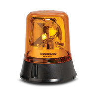 Narva 85650A 12/24V Amber Optimax Rotating Beacon Flange Base