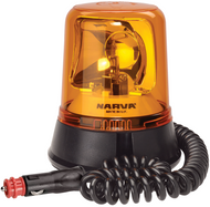 Narva 85658A 12/24V Amber Optimax Rotating Beacon Magnetic Base
