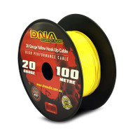 DNA AWP1420 100 Metres 20 Gauge Hookup Power Cable Yellow