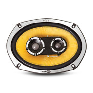 "ibe BLACKAIR69-V1 525W 6x9"" 3-Way Coaxial Car Speakers"