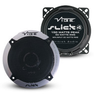 "Vibe SLICK4V5 4"" 50W 2-Way Coaxial Car Speakers"