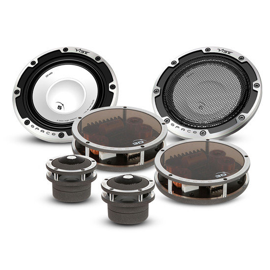 "Vibe SPACE53D 660W 5.25"" 3 Way Car Component Speakers"