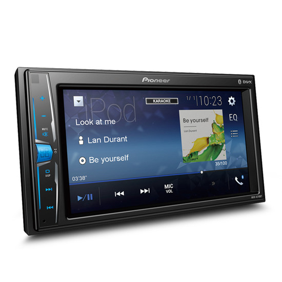 """Pioneer MVH-A210BT 6.2"""" Multimedia Receiver with Bluetooth/USB/Aux-In/Video Out/Smartphone Connectivity"""