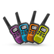 Uniden UH45-4 80 Channel UHF CB Handheld Radio (Walkie-Talkie) with Kid Zone – Quad Colour Pack