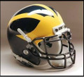Michigan Wolverines Full Size Authentic Schutt Helmet