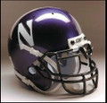 Northwestern Wildcats Mini Authentic Schutt Helmet