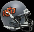Oklahoma St Cowboys Grey Mini Authentic Schutt Helmet