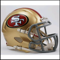 San Francisco 49ers Mini Speed Football Helmet