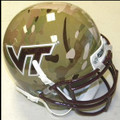 Virginia Tech Hokies Alt Green Camo Schutt NCAA Helmet