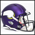 Minnesota Vikings 2013 Authentic Revolution Speed Football Helmet - New Purple Matte