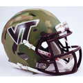 Virginia Tech Hokies Green Camo Mini Speed Helmet