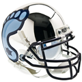 North Carolina Tar Heels Mini Authentic Helmet Schutt Chrome