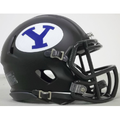 BYU Cougars Matte Black Mini Speed Helmet