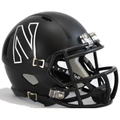 Northwestern Wildcats Matte Black White N Mini Speed Helmet