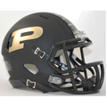 Purdue Boilermakers Matte Black Mini Speed Helmet