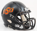 Oklahoma State Cowboys Matte Black Mini Speed Helmet