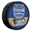 2014 Stadium Series Chicago Blackhawks vs. Pittsburgh Penguins NHL Autograph Hockey Puck