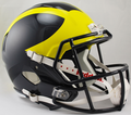 Michigan Wolverines NCAA Full Size Replica Speed Helmet