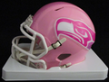 Seattle Seahawks Pink Mini Speed Helmet