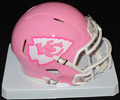 Kansas City Chiefs Pink Mini Speed Helmet