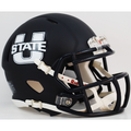 Utah State Aggies Matte Navy Mini Speed Helmet