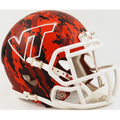 Virginia Tech Hokies Hydro Red Camo Mini Speed Helmet