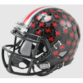 Ohio State Buckeyes Satin Black With Red Buckeyes Mini Speed Helmet