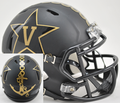 Vanderbilt Commodores Matte Black With Anchor Mini Speed Helmet